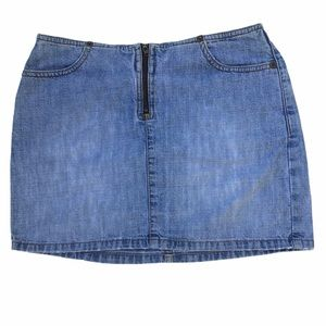 Vintage Guess Jean Skirt Mini Pre 1996